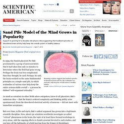Sand Pile Model of the Mind Grows in Popularity