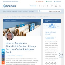 How to Populate a SharePoint Contact Library from an Outlook Address Book