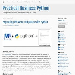 Populating MS Word Templates withPython