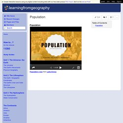 learningfromgeography - Population
