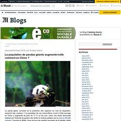 La population de pandas géants augmente-t-elle vraiment en Chine