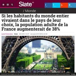 Si les habitants du monde entier vivaient dans le pays de leur choix, la population adulte de la France augmenterait de 38%