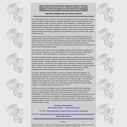Population Bottlenecks and Volcanic Winter