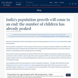 India's population growth will come to an end: the number of children has already peaked