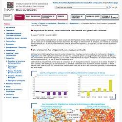 Population - Population du Gers - Une croissance concentrée aux