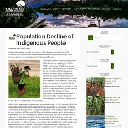 Population Decline of Indigenous People