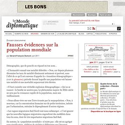 Fausses évidences sur la population mondiale, par Gérard-François Dumont