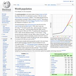 World Population Wikipedia