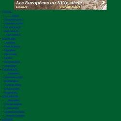 La population européenne au XIXe siècle