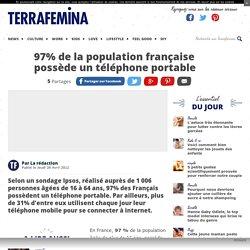 97% de la population française possède un téléphone portable