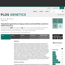 Population genomics of grey wolves and wolf-like canids in North America