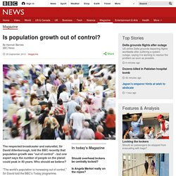 Is population growth out of control?