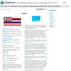 Hawaii: History, Geography, Population, and State Facts