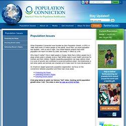 Population Issues & Facts - Population Connection