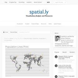 Population Lines Print