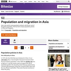 Population and migration in Asia - Revision 2 - KS3 Geography - BBC Bitesize