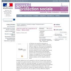 L'état de santé de la population en France - Édition 2015