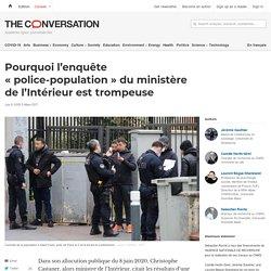 Pourquoi l'enquête «police-population» duministère del'Intérieur est trompeuse