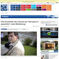 """PARIS - Plan d'austérité: des mesures qui """"font payer la population"""", selon Montebourg"""