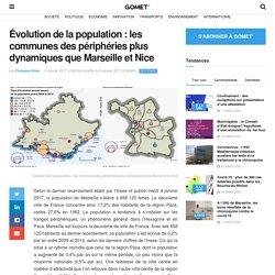 Évolution de la population : les communes des périphéries plus dynamiques que Marseille et Nice - Gomet