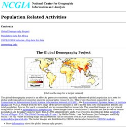 Population Project Homepage