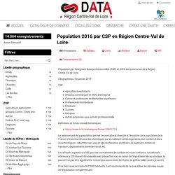 Population 2016 par CSP en Région Centre-Val de Loire — L'Open Data en Centre-Val de Loire