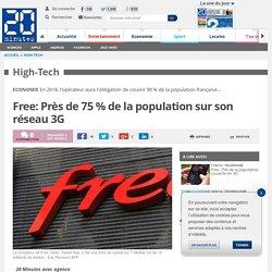 Free: Près de 75 % de la population sur son réseau 3G