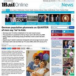 German population shrinks as QUARTER of men say 'no' to kids