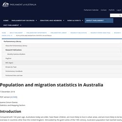 Population and migration statistics in Australia