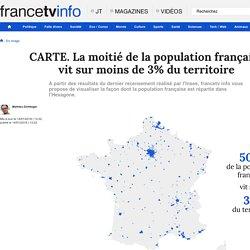 CARTE. La moitié de la population française vit sur moins de 3% du territoire