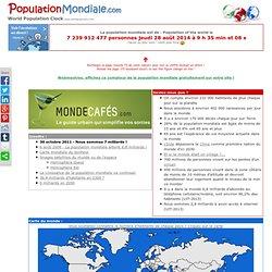 World population clock : suivez l'évolution de la population du Monde en direct !