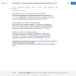 PARLEMENT EUROPEEN - Réponse à question E-004036/2019 Cormorant populations degrading freshwater aquaculture in the EU