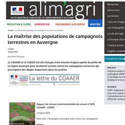 MAAF - OCT 2015 - CGAAER - Rapport de mission interministérielle de conseil n°14118 CGAAER - CGEDD La maîtrise des populations de campagnols terrestres en Auvergne