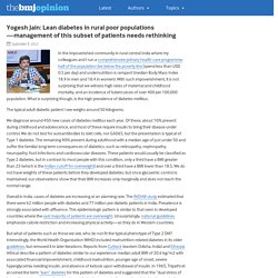 Yogesh Jain: Lean diabetes in rural poor populations—management of this subset of patients needs rethinking – The BMJ