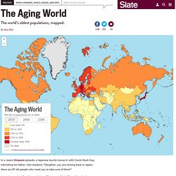 Aging populations: Where people are getting older, mapped.