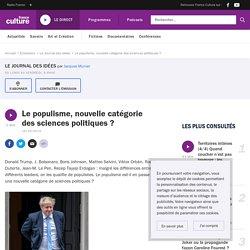 Le populisme, nouvelle catégorie des sciences politiques ?
