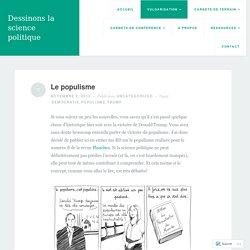Le populisme – Dessinons la science politique