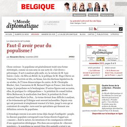 Faut-il avoir peur du populisme ?, par Alexandre Dorna