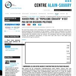 """Xavier Pons : le """"populisme éducatif"""" n'est pas qu'un discours politique"""