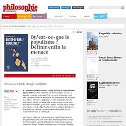 Notre sélection, Jan-Werner Müller, Populisme, Démocratie, Peuple, Erdogan, Trump, Hugo Chavez, Marine Le Pen