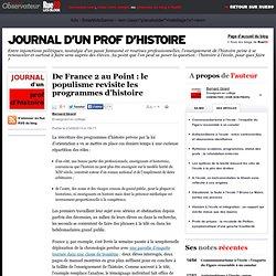 De France 2au Point: le populisme revisite les programmes d'histoire