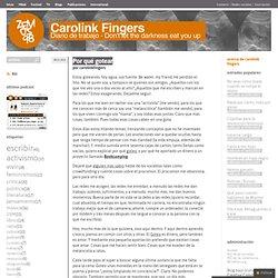Por qué gotear « « Carolink Fingers Carolink Fingers