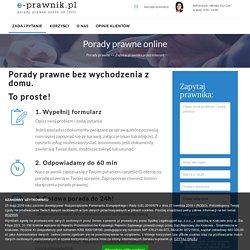 Porady prawne online - e-Prawnik online, porady prawne w 24h