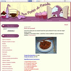 Porc au caramel