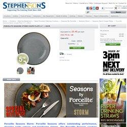"Porcelite Seasons Storm Coupe Plate 11"" / 28cm - Stephensons"