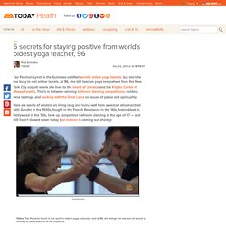 Tao Porchon-Lynch, world's oldest yoga teacher: 'I don't believe in age' - Health