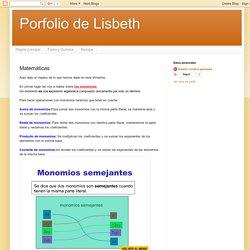Porfolio de Lisbeth: Matemáticas