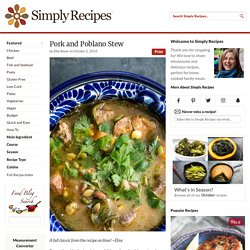 Pork and Poblano Stew Recipe