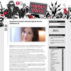 Du porno à la pub, Katsuni égérie du site AlloResto.fr