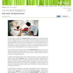 Lo no pornográfico de Tsai Ming Liang